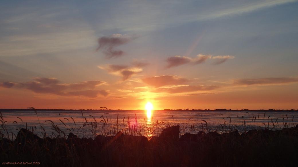 Sonnenuntergang am Watt 2015 2