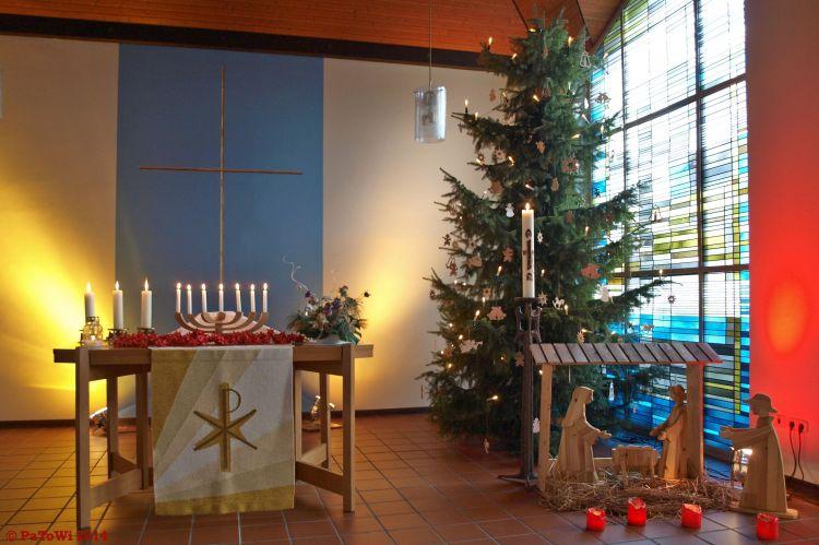 Weihnachtliche Impression aus der Möllberger Kirche