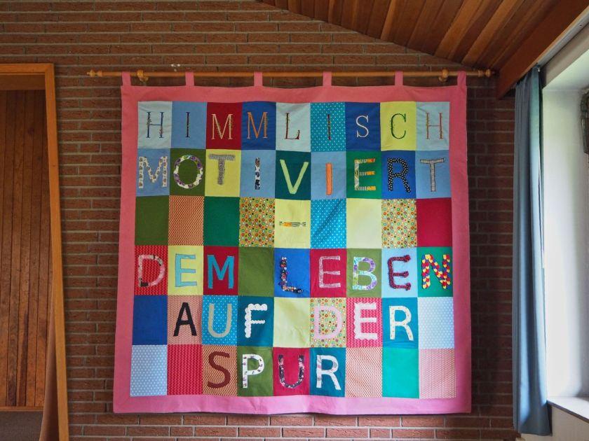"""""""Himmlisch motiviert – dem Leben auf der Spur"""": Wandbehang Holtrup"""