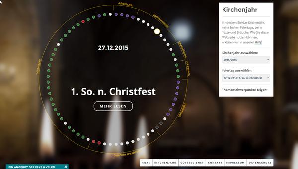 Screenshot von der Seite http://www.kirchenjahr-evangelisch.de