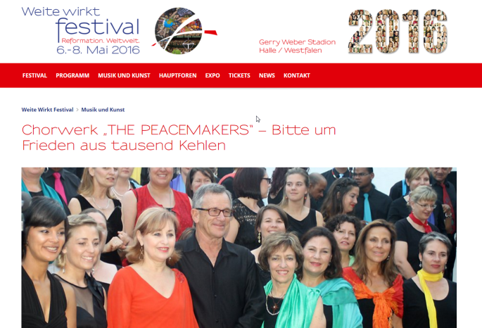 """""""THE PEACEMAKERS"""" – Bitte um Frieden aus tausend Kehlen _ Weite Wirkt Festival"""