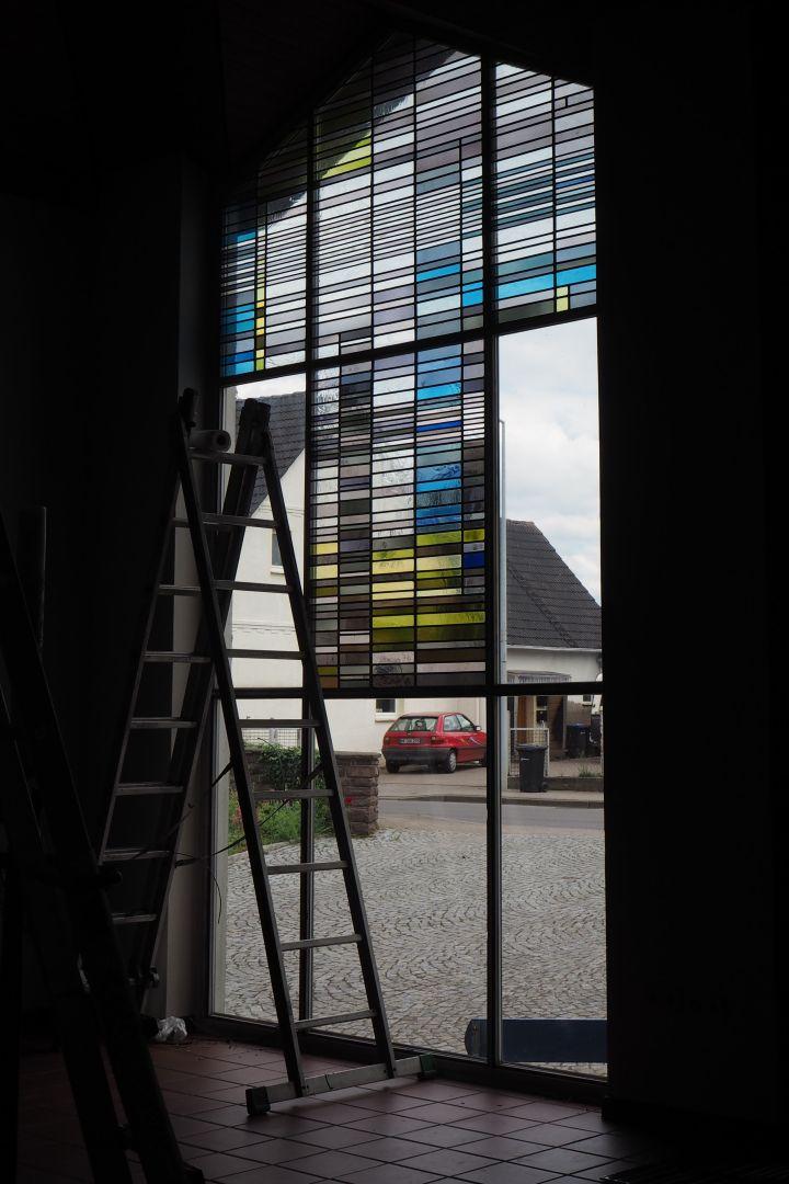 Wiedereinbau Altarfenster Möllbergen